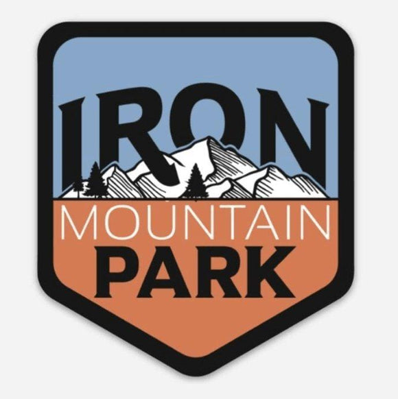 Iron Mountain Logo Sticker - Patriotic - Iron Mountain Resort