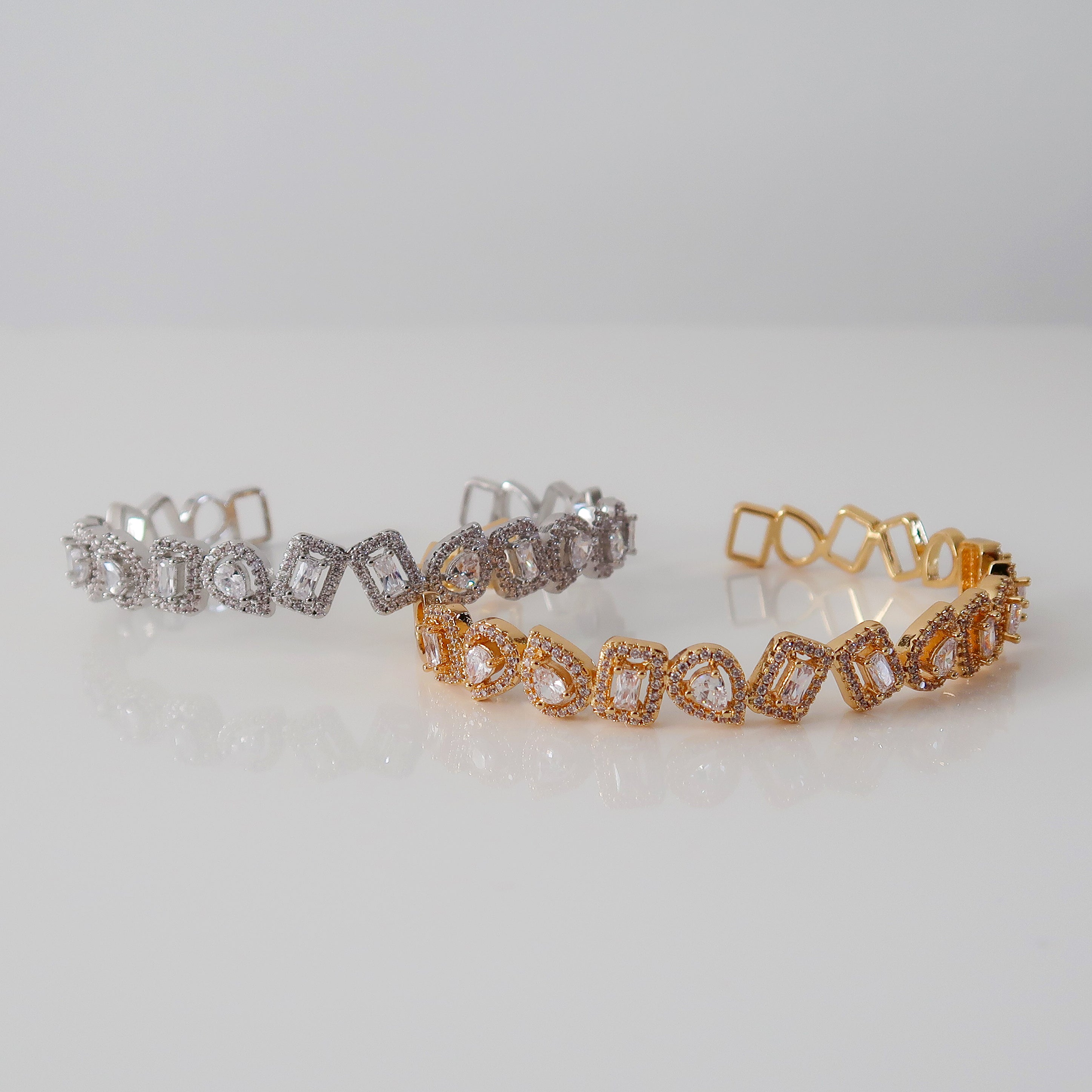 Isabella Oval and Square Bracelet - Gold