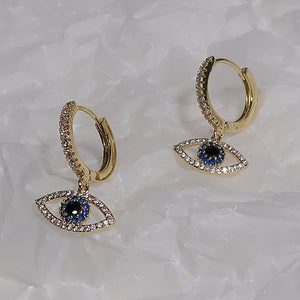 See No Evil Hoop Earrings - Gold