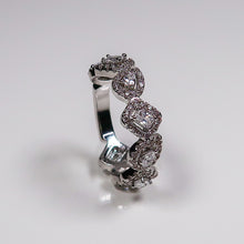 Load image into Gallery viewer, Izzy Square And Oval Ring - Silver