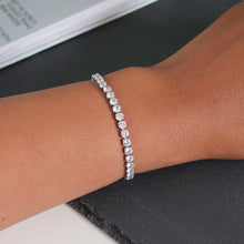 Load image into Gallery viewer, Rosie 4mm Tennis Bracelet - Silver