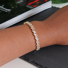 Load image into Gallery viewer, Rebecca Staggered Diamante Bracelet - Gold