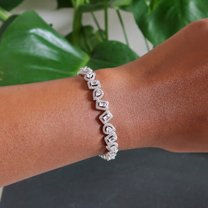 Isabella Oval and Square Bracelet - Silver
