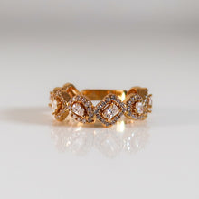 Load image into Gallery viewer, Izzy Square And Oval Ring - Gold
