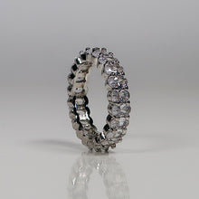 Load image into Gallery viewer, Samantha Eternity Ring - Silver