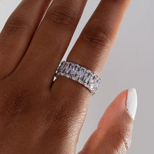 Load image into Gallery viewer, Ice Me Out Eternity Ring - Silver