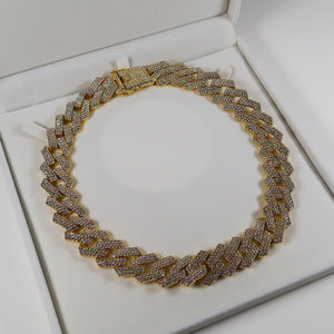 Ariana Diamante Cuban Link Necklace - Gold (Pre-order*)