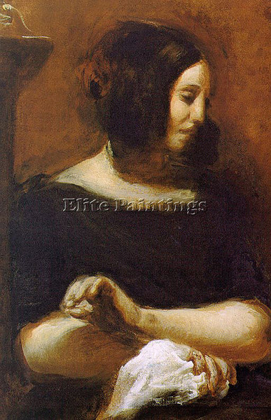 EUGENE DELACROIX 01GEORGE SAND ARTIST PAINTING REPRODUCTION HANDMADE OIL CANVAS