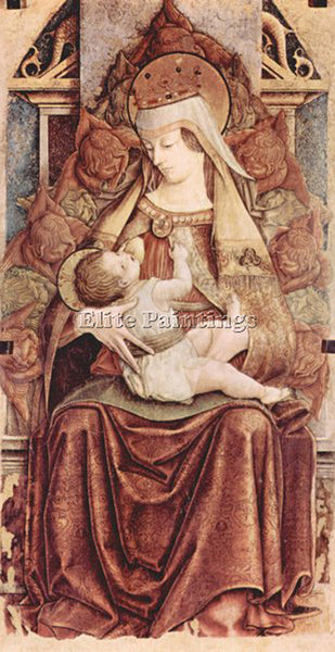 CARLO CRIVELLI CRIV1 ARTIST PAINTING REPRODUCTION HANDMADE OIL CANVAS REPRO WALL