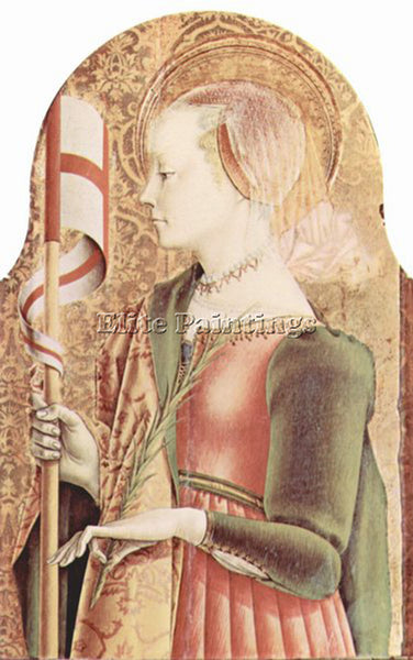 CARLO CRIVELLI CRIV3 ARTIST PAINTING REPRODUCTION HANDMADE OIL CANVAS REPRO WALL