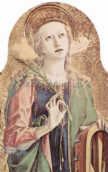 CARLO CRIVELLI CRIV4 ARTIST PAINTING REPRODUCTION HANDMADE OIL CANVAS REPRO WALL