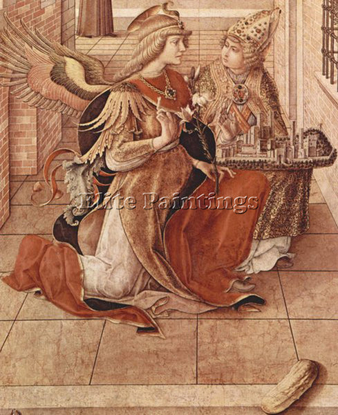 CARLO CRIVELLI CRIV6 ARTIST PAINTING REPRODUCTION HANDMADE OIL CANVAS REPRO WALL