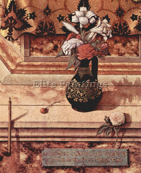 CARLO CRIVELLI CRIV7 ARTIST PAINTING REPRODUCTION HANDMADE OIL CANVAS REPRO WALL