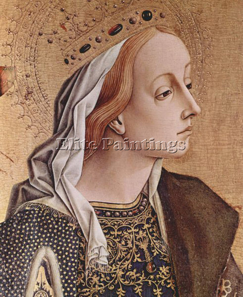 CARLO CRIVELLI CRIV8 ARTIST PAINTING REPRODUCTION HANDMADE OIL CANVAS REPRO WALL