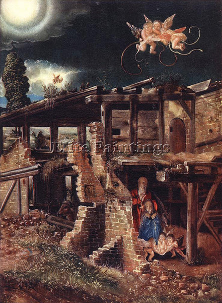BELGIAN ALSLOOT DENIS VAN NATIVITY ARTIST PAINTING REPRODUCTION HANDMADE OIL ART