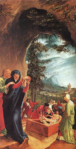 BELGIAN ALSLOOT DENIS VAN THE ENTOMBMENT ARTIST PAINTING REPRODUCTION HANDMADE