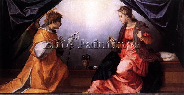 ANDREA DEL SARTO ANNUNCIATION ARTIST PAINTING REPRODUCTION HANDMADE CANVAS REPRO
