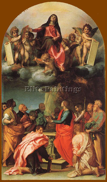 ANDREA DEL SARTO ASSUMPTION OF THE VIRGIN ARTIST PAINTING REPRODUCTION HANDMADE