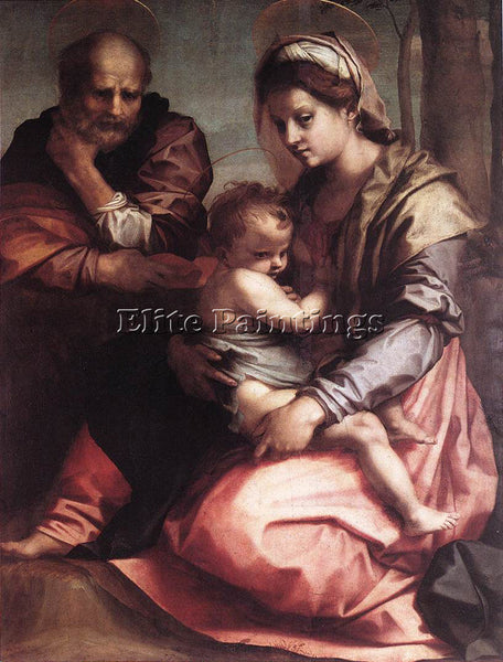 ANDREA DEL SARTO HOLY FAMILY BARBERINI 1 ARTIST PAINTING REPRODUCTION HANDMADE
