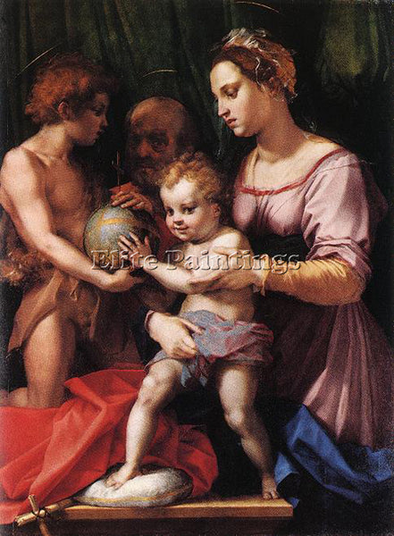 ANDREA DEL SARTO HOLY FAMILY BORGHERINI ARTIST PAINTING REPRODUCTION HANDMADE