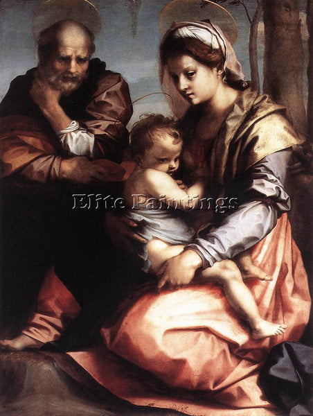 ANDREA DEL SARTO HOLY FAMILY BARBERINI ARTIST PAINTING REPRODUCTION HANDMADE OIL