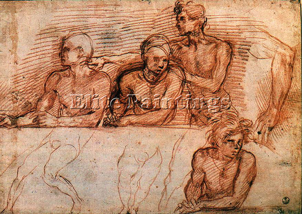 ANDREA DEL SARTO LAST SUPPER STUDY ARTIST PAINTING REPRODUCTION HANDMADE OIL ART