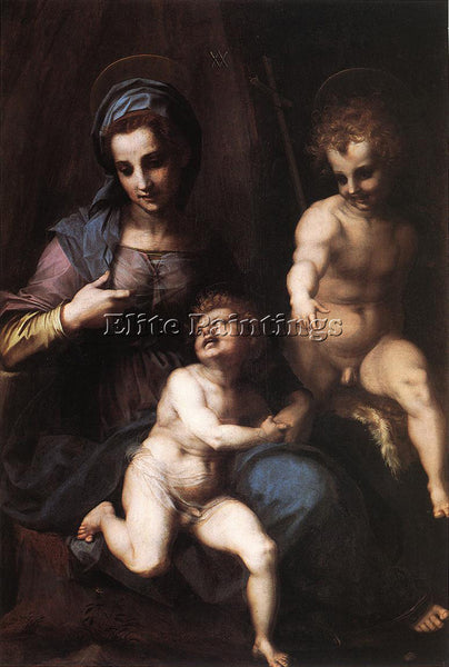 ANDREA DEL SARTO MADONNA AND CHILD WITH THE YOUNG ST JOHN ARTIST PAINTING CANVAS