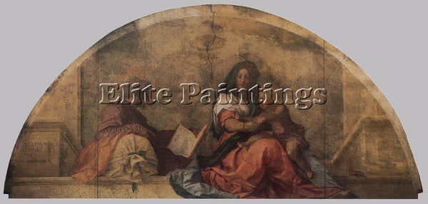 ANDREA DEL SARTO MADONNA DEL SACCO MADONNA WITH THE SACK ARTIST PAINTING CANVAS