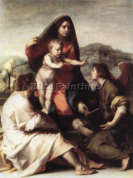 ANDREA DEL SARTO MADONNA DELLA SCALA ARTIST PAINTING REPRODUCTION HANDMADE OIL