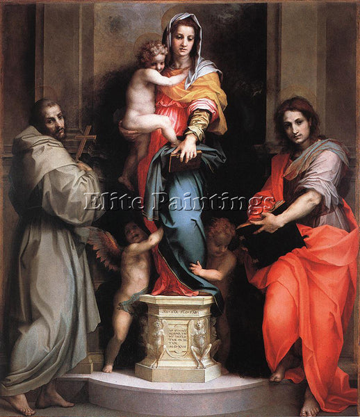 ANDREA DEL SARTO MADONNA OF THE HARPIES ARTIST PAINTING REPRODUCTION HANDMADE