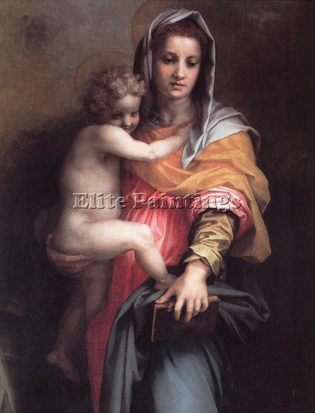 ANDREA DEL SARTO MADONNA OF THE HARPIES DETAIL ARTIST PAINTING REPRODUCTION OIL