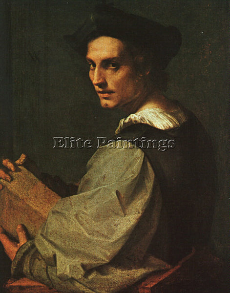 ANDREA DEL SARTO PORTRAIT OF A YOUNG MAN ARTIST PAINTING REPRODUCTION HANDMADE