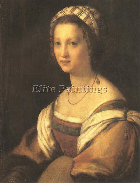 ANDREA DEL SARTO PORTRAIT OF ARTISTS WIFE ARTIST PAINTING REPRODUCTION HANDMADE
