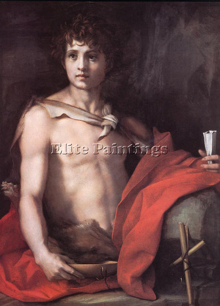 ANDREA DEL SARTO ST JOHN THE BAPTIST ARTIST PAINTING REPRODUCTION HANDMADE OIL