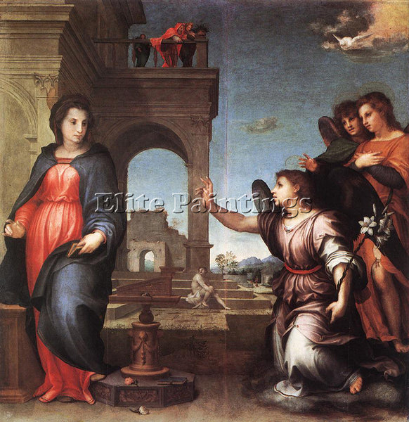 ANDREA DEL SARTO THE ANNUNCIATION ARTIST PAINTING REPRODUCTION HANDMADE OIL DECO