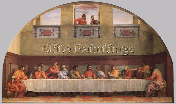 ANDREA DEL SARTO THE LAST SUPPER ARTIST PAINTING REPRODUCTION HANDMADE OIL REPRO