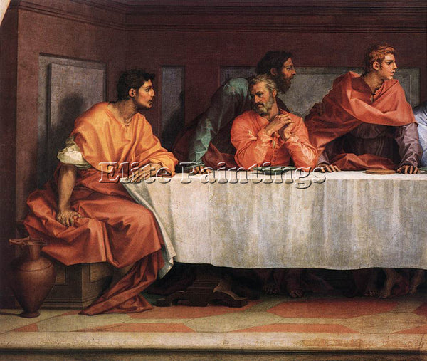 ANDREA DEL SARTO THE LAST SUPPER DETAIL2 ARTIST PAINTING REPRODUCTION HANDMADE