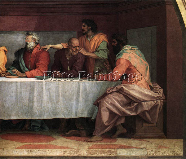 ANDREA DEL SARTO THE LAST SUPPER DETAIL3 ARTIST PAINTING REPRODUCTION HANDMADE