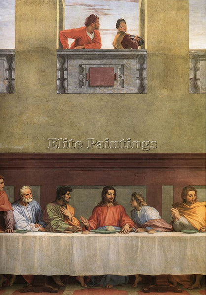 ANDREA DEL SARTO THE LAST SUPPER DETAIL ARTIST PAINTING REPRODUCTION HANDMADE