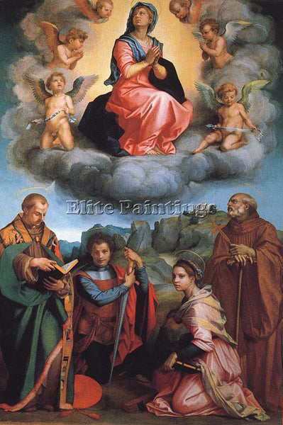 ANDREA DEL SARTO VIRGIN WITH FOUR SAINTS ARTIST PAINTING REPRODUCTION HANDMADE