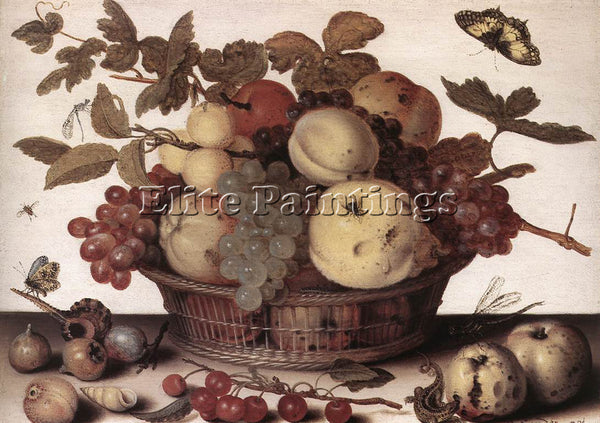 DUTCH AST BALTHASAR VAN DER BASKET OF FRUITS 1593 94 ARTIST PAINTING HANDMADE