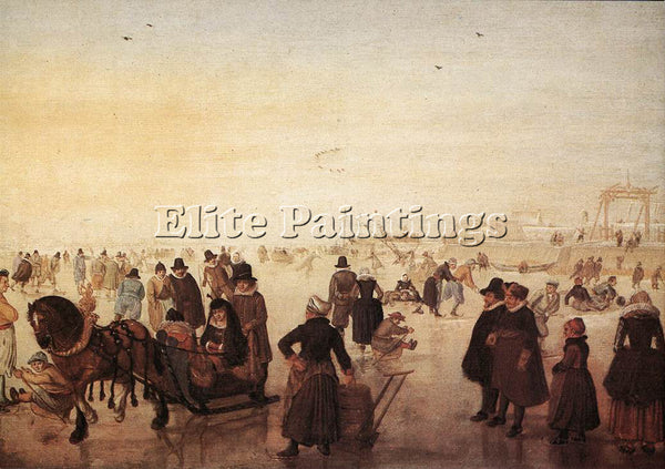 HENDRICK AVERCAMP ICE SCENE 1 ARTIST PAINTING REPRODUCTION HANDMADE CANVAS REPRO