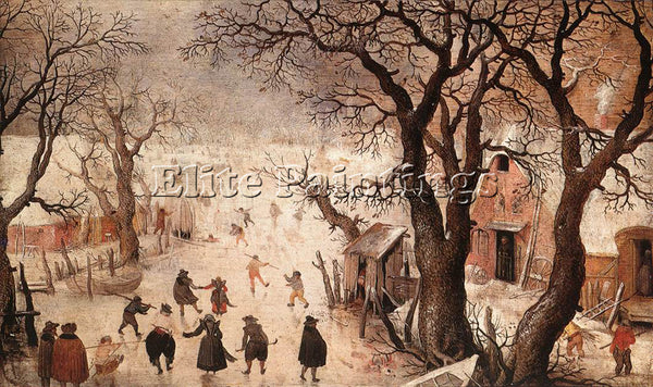 HENDRICK AVERCAMP WINTER LANDSCAPE 3 ARTIST PAINTING REPRODUCTION HANDMADE OIL