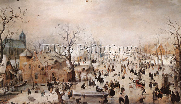 HENDRICK AVERCAMP WINTER ARTIST PAINTING REPRODUCTION HANDMADE CANVAS REPRO WALL
