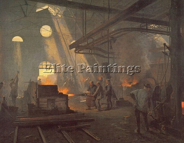 FERNAND-ANNE PIESTRE CORMON A FORGE ARTIST PAINTING REPRODUCTION HANDMADE OIL