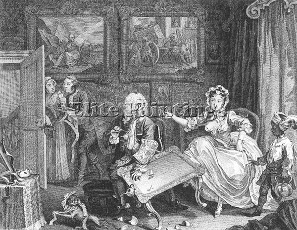 WILLIAM HOGARTH A HARLOTS PROGRESS PLATE 2 OF 6 ARTIST PAINTING REPRODUCTION OIL