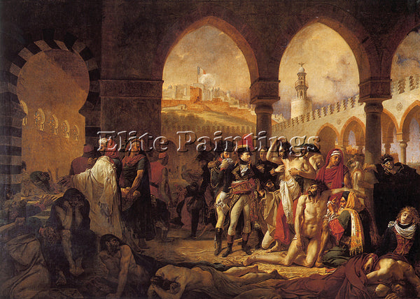 ANTOINE-JEAN GROS A J GROS BONAPARTE VISITING THE PESTHOUSE IN JAFFA OIL CANVAS