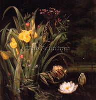 DENMARK A LILY POND ARTIST PAINTING REPRODUCTION HANDMADE CANVAS REPRO WALL DECO