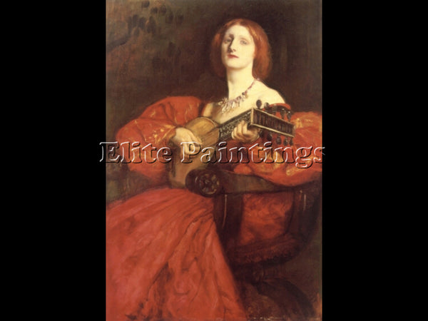 EDWIN AUSTIN ABBEY A LUTE PLAYER ARTIST PAINTING REPRODUCTION HANDMADE OIL REPRO