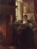BRITISH A PLEASANT CORNER JOHN CALLCOTT HORSLEY ARTIST PAINTING REPRODUCTION OIL
